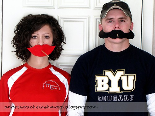 Valentine Mustaches and Kissers
