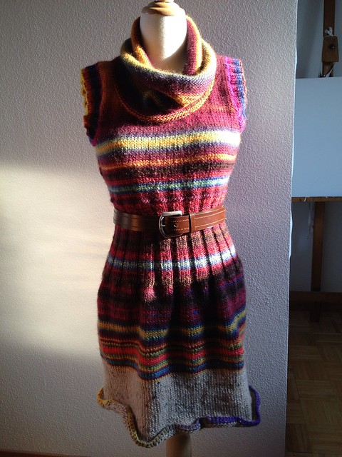 Sweater dress! Worn with belt
