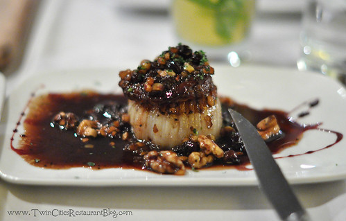 Scallop and Foie Gras at Acqua Restaurant ~ White Bear Lake, MN