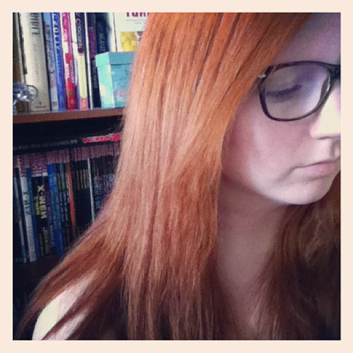 I feel more like Ginny with straight hair. #harrypotter #nerd #ginger #red