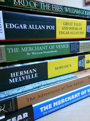 Stack of Literature Senior Year