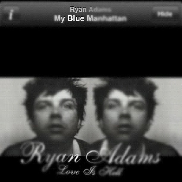 My #blue Manhattan #febphotoaday #day13 what I'm listening to #ryanadams #loveishell