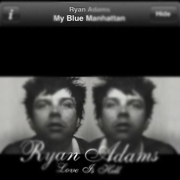 My #blue Manhattan #febphotoaday #day13 what I'm listening to #ryanadams #loveishell