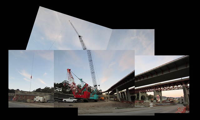 construction in The Presidio, San Francisco (2011)