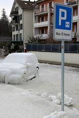 Oh the irony ... Max 15 hours parking! Lac Léman Ice Storm, February 2012