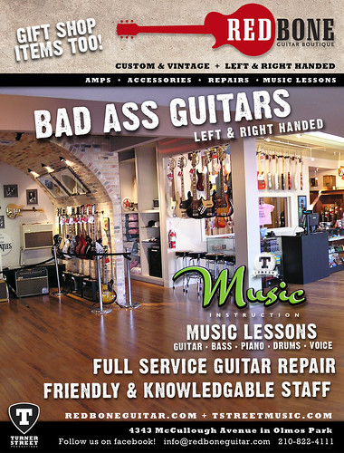 Redbone Guitar Boutique Current City Guide Ad