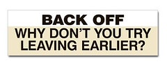 try_leaving_earlier_bumper_sticker_beige
