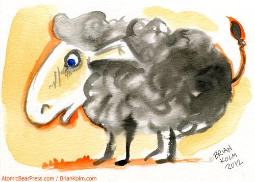 111 Minna Sketch Tuesdays March 2012 - sheep