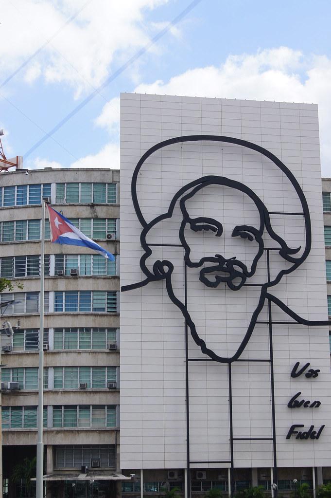 Mural of Fidel Castro