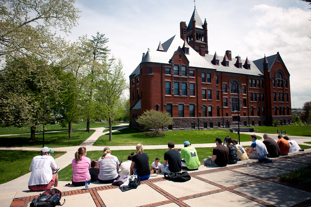 Glatfelter Hall is an iconic landmark on campus and houses numerous academic departments.