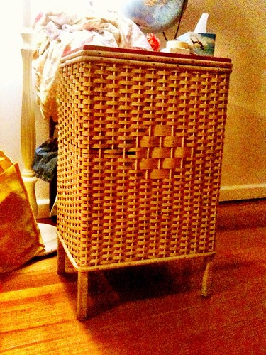 New old laundry basket $10