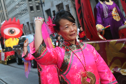 Chinese New Year Parade: Candid Woman