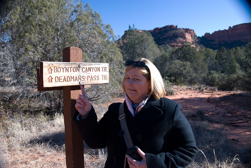 Hobbies: Susan Hiking at Deadman's Trail