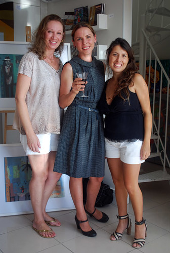 Opening of my exhibition - me with Marina Baldini and Flavia Tronca by good mood factory / Anita Damas
