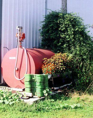 A diesel fuel storage tank