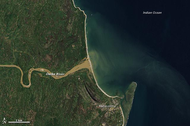 Thick Sediment in Madagascar's Onibe River