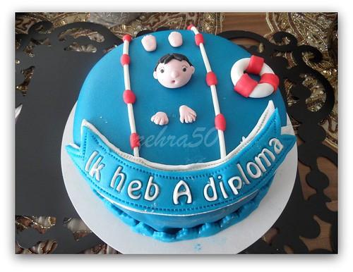 taart voor a diploma..