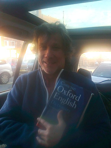 Peter Duncan, in his car