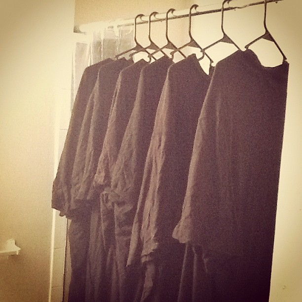 Air drying the wardrobe.