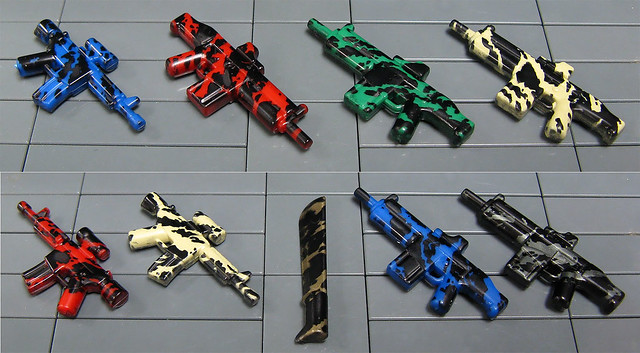 BrickArms - Exclusive Tiger Stripe Camo Print - 9 Weapons!
