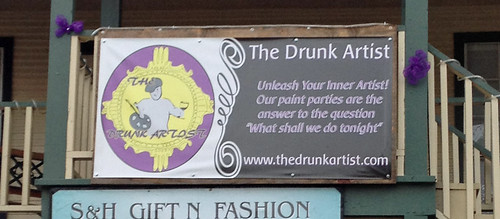 The Drunk Artist sign