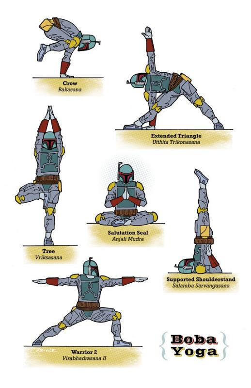 Yoga Star Wars boba feet