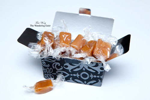 A box full of salted caramels