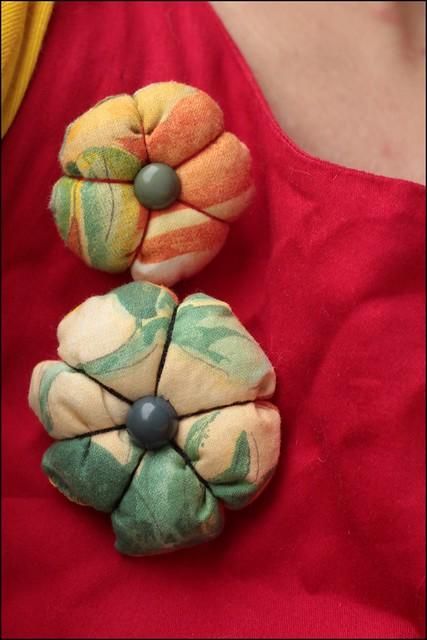 handmade flower brooches