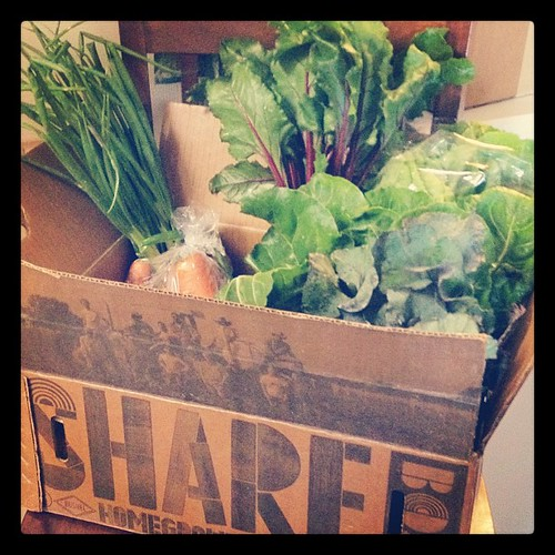Hark the backyard farmers say, glory to my CSA! @jbgorganic