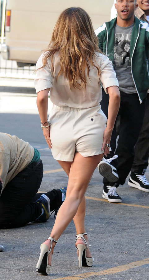 Jennifer Lopez Shooting A Fiat Commercial In Los Angeles