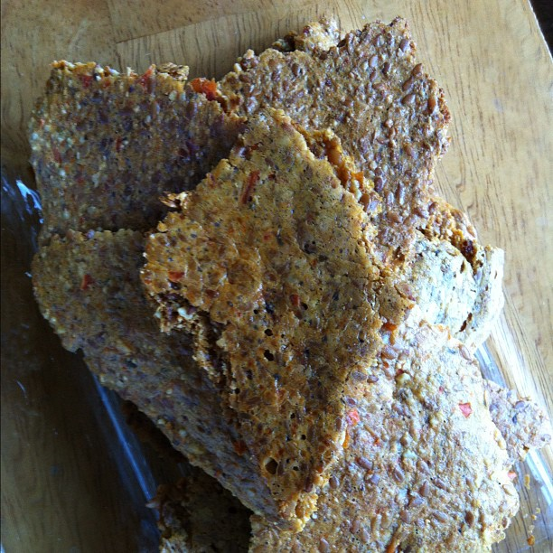 flax crackers.