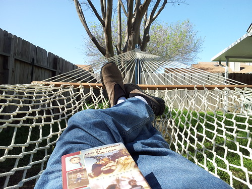 Hammocks are the best place for reading. Or napping.