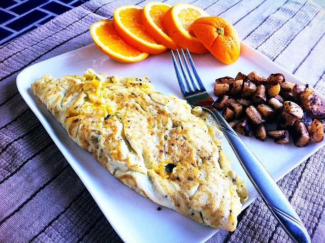 Mostly Egg White Omelette Plated v2