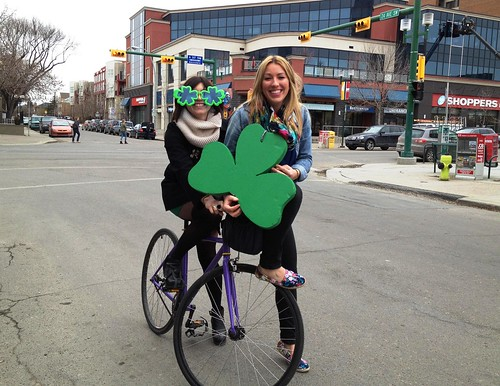 Celebrating St. Patrick's on Bike!