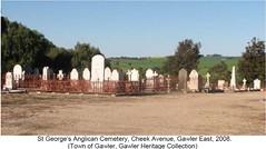 Decorative iron work around the grave site