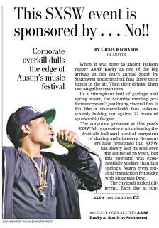 A$AP Rocky SXSW tearsheet