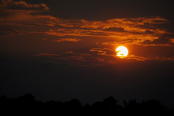 Sunset at Gorumara