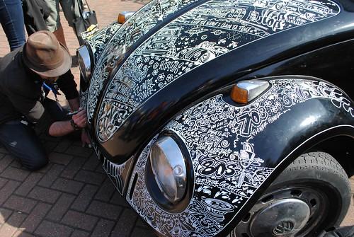 vw Beetle Graffiti 72' Black Graffiti Beetle by