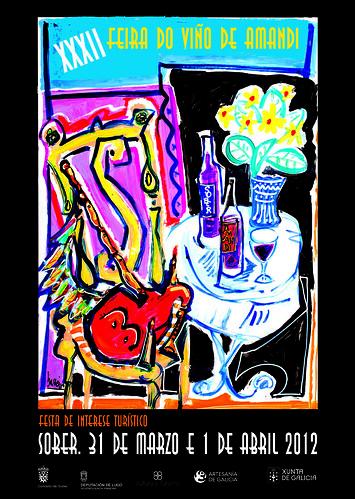 Sober 2012 - XXXII Feira do Viño de Amandi - cartel