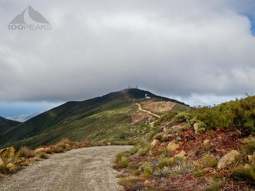 Santa Ynez Peak from West Camino Cielo