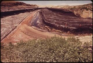 Decker Coal Company strip mine, 06/1973