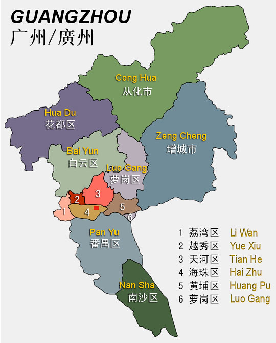 Guangzhou layout