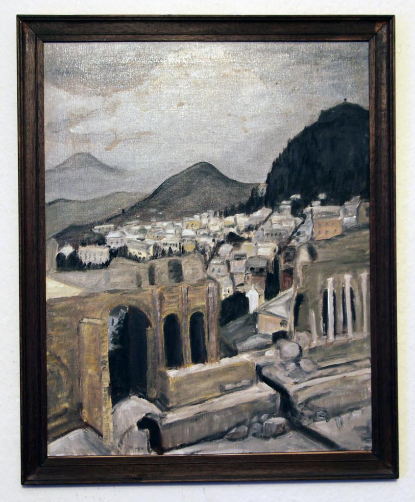 Italy, Greek theatre and Etna, Taormina