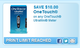 Onetouch Ultramini Meter  Coupon