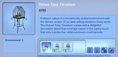 Deluxe Cozy Terrarium