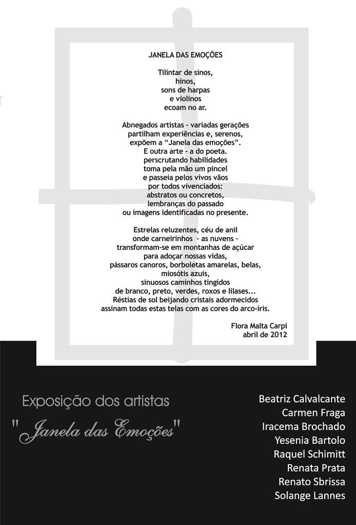 """POEMA """"Janela das Emoções"""""""
