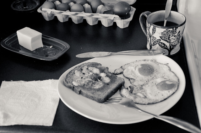 still outtake from: breakfast, a stop motion video short