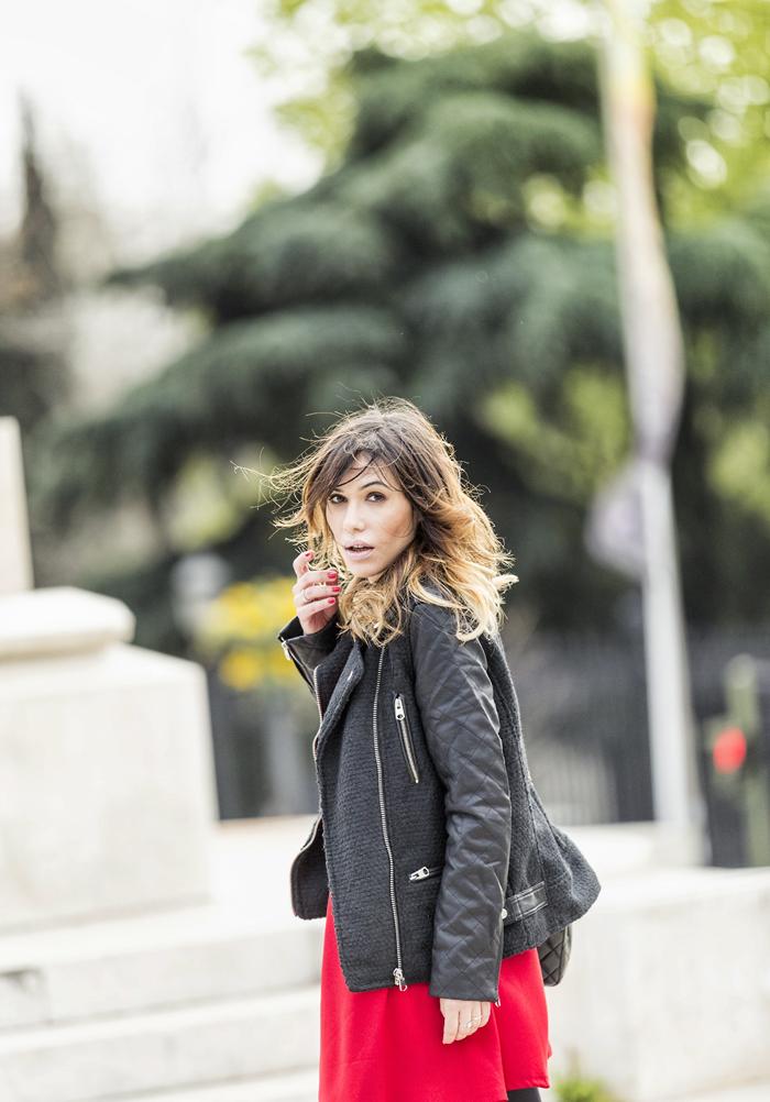 street style barbara crespo black red contrast maystar zara sheinside fashion blogger outfit blog de moda