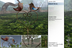 Sway's [Heart Birds] garden stake | for FLF