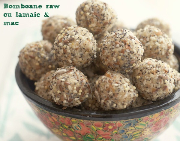 Cookies cu lamaie si mac - raw vegan